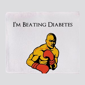 I'm Beating Diabetes Throw Blanket