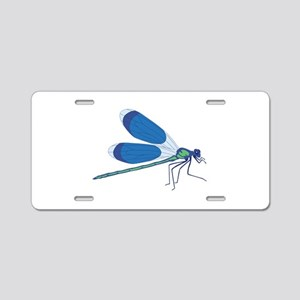 Standing Dragonfly Aluminum License Plate