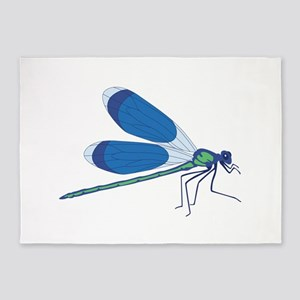 Standing Dragonfly 5'x7'Area Rug