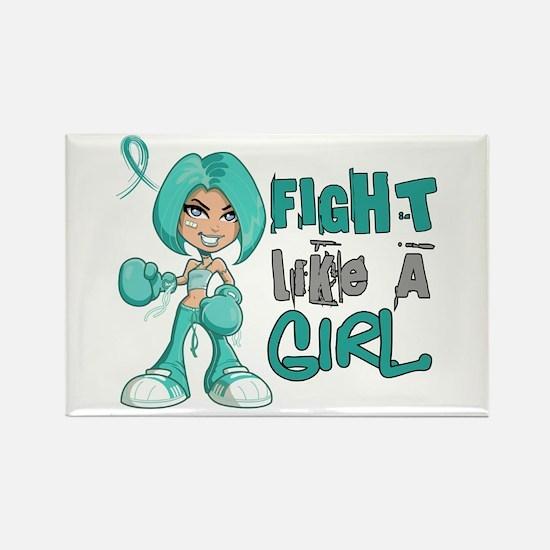 Licensed Fight Like a Girl 42.8 I Rectangle Magnet
