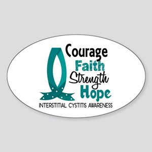 Courage Faith 1 IC Sticker (Oval)