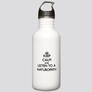 Keep Calm and Listen to a Naturopath Water Bottle