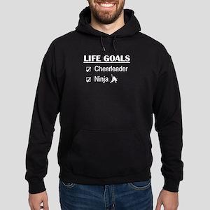 Cheerleader Ninja Life Goals Hoodie (dark)