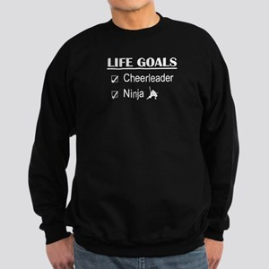 Cheerleader Ninja Life Goals Sweatshirt (dark)