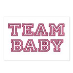 Team Baby in Pink and Black Postcards (Package of