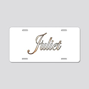 Gold Juliet Aluminum License Plate