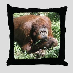 Helaine's Orangutan Throw Pillow