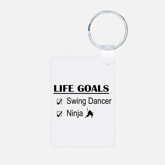Swing Dancer Ninja Life Go Aluminum Photo Keychain
