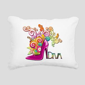 Designer Diva Rectangular Canvas Pillow