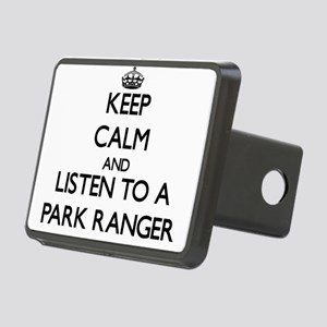 Keep Calm and Listen to a Park Ranger Hitch Cover