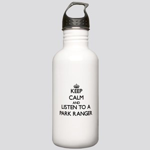 Keep Calm and Listen to a Park Ranger Water Bottle