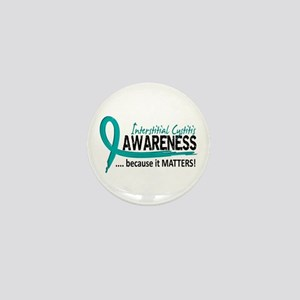 Awareness 2 Interstitial Cystitis Mini Button