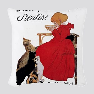 Steinlen Cats Woven Throw Pillow