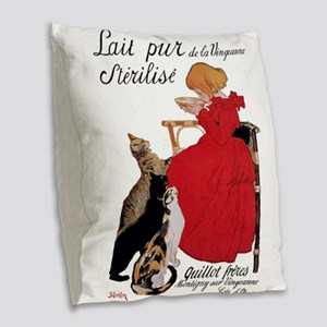 Steinlen Cats Burlap Throw Pillow