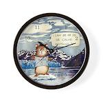 Abrahamster in Alaska Wall Clock 8.5in diam.