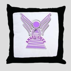 ANGEL LOVE FIBRO Throw Pillow