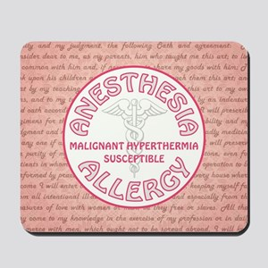 ANESTHESIA ALLERGY Mousepad