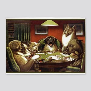 Waterloo Dog Poker 5'x7'area Rug