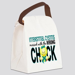 Messed With Wrong Chick 1 IC Canvas Lunch Bag