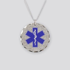 STAR OF LIFE Necklace Circle Charm