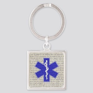 STAR OF LIFE Square Keychain