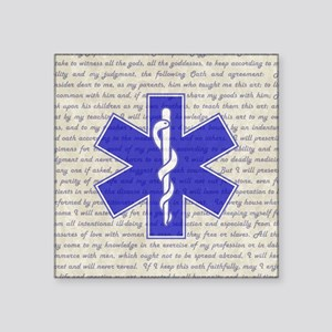 "STAR OF LIFE Square Sticker 3"" x 3"""