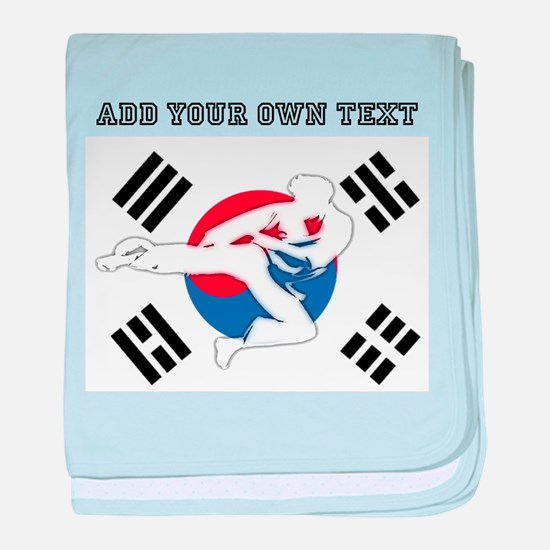 Martial Arts Male baby blanket