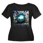 Magic Blue Marble Plus Size T-Shirt