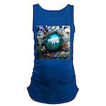 Magic Blue Marble Maternity Tank Top