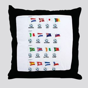 Soccer Balls And Flags Throw Pillow