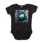 Magic Blue Marble Baby Bodysuit