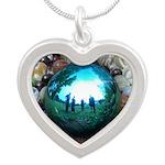 Magic Blue Marble Necklaces