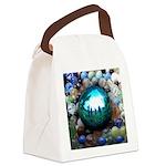 Magic Blue Marble Canvas Lunch Bag