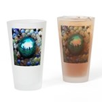 Magic Blue Marble Drinking Glass