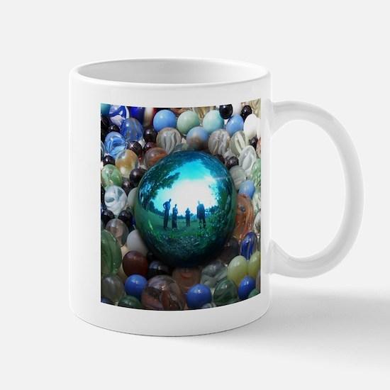 Magic Blue Marble Mugs