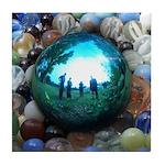 Magic Blue Marble Tile Coaster