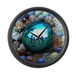 Magic Blue Marble Large Wall Clock
