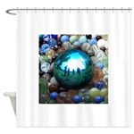 Magic Blue Marble Shower Curtain