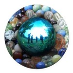 Magic Blue Marble Round Car Magnet