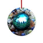 Magic Blue Marble Ornament (Round)