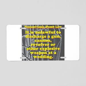Pennsylvania Dumb Law #7 Aluminum License Plate