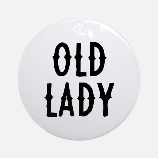 Old Lady Ornament (Round)