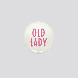 Old Lady Mini Button