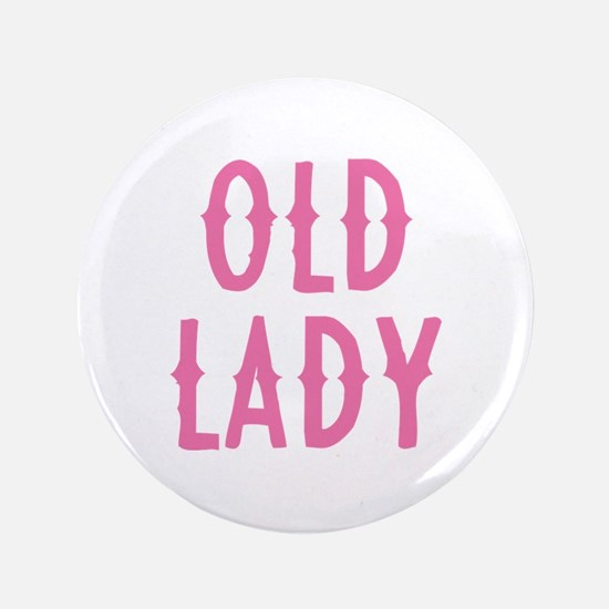 """Old Lady 3.5"""" Button"""