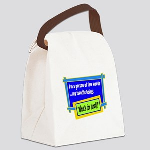 Whats For Lunch? Canvas Lunch Bag