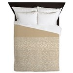 Riverside Sand Queen Duvet
