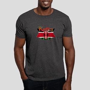 Kenyan flag ribbon Dark T-Shirt