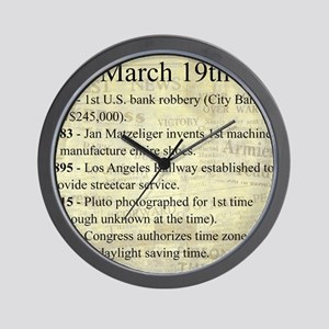 March 19th Wall Clock