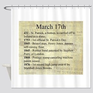 March 17th Shower Curtain
