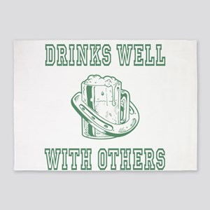 Drinks well with others | St Patricks 5'x7'Area Ru